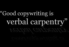 copywriting is verbal carpentry image