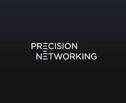 "a type only logo using a letter to symbolize ""network"""