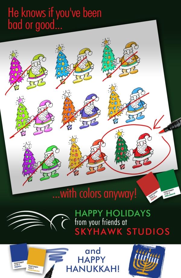 SkyHawk Studos' Santa card